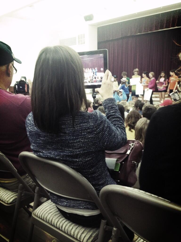 at a school event