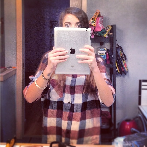 ipad selfie mirror shot